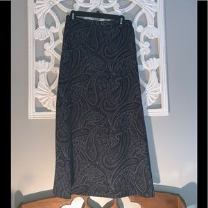AGB skirt. Long blue paisley print